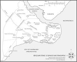 byzantine constantinople map